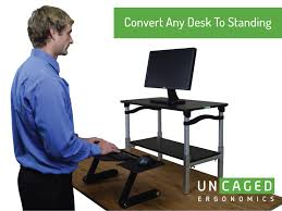 lift standing desk conversion kit tall portable affordable