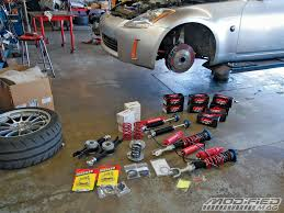 Nissan 350z Coilovers - project 350z suspension install modified magazine