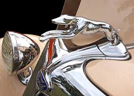 ford greyhound ornament 1932 greeting card for sale by gill