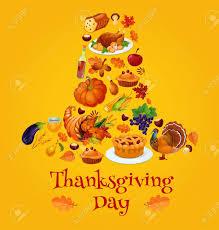 thanksgiving day symbols in shape of pilgrim hat vector emblem