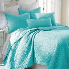 turquoise quilted coverlet turquoise bedding decor by color