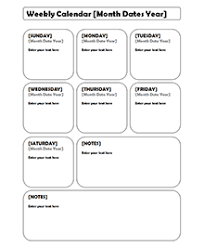 free weekly blank calendar template u2013 printable blank yearly calendars