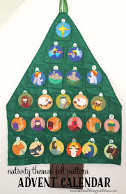 nativity themed felt advent calendar pattern quilten pinterest