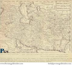 Persia Map From 1700 A D To The Modern From 1700 A D To The Modern Persian