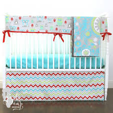 Teal Crib Bedding Sets Lime Green And Aqua Owl Baby Boy Crib Bedding Set