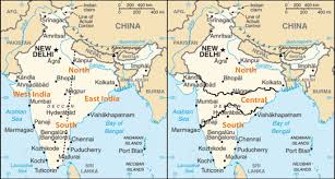 Map Of China And India by South Asia