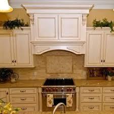 Kitchen Cabinets Antique White Biscotti Kitchen Cabinets With Light Granite Countertops Kitchen