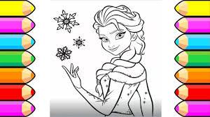 disney princess elsa coloring book baby learn colors drawing