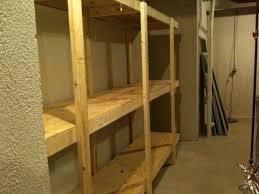 build free standing shelving unit for basement or garage project