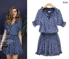 casual summer dresses women sleeve print flare dress sleeve casual summer