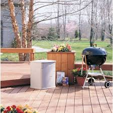 Rubbermaid Patio Table by Amazon Com Rubbermaid 18 By 17 By 23 Inch Small Deck Box 3743