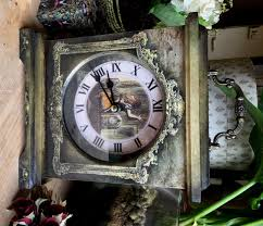 alice through the looking glass clock victorian style clock