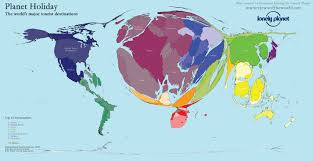 World Map With Hemispheres by Planet Holiday The World U0027s Major Tourist Destinations Views Of