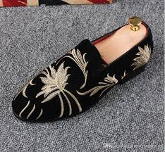 wedding shoes europe promotion new 2018 men velvet loafers party wedding shoes