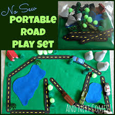 no sew portable roads busy bag idea for kids and next comes l