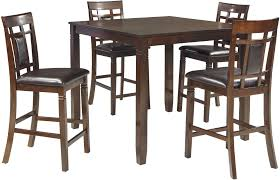 Counter Height Dining Room Set by Bennox Brown 5 Piece Counter Height Dining Room Set From Ashley