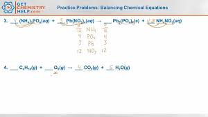chemistry practice problems balancing chemical equations youtube