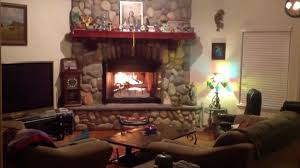 the best fireplace video huge with river rocks youtube