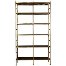 Original Billy Baldwin Tubular Brass Bookshelf With  Ebony - Baldwin furniture