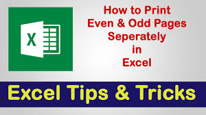 print even u0026 odd pages separately excel tips u0026 tricks youtube