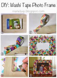 we read diy washi tape photo frame