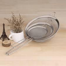 tamis fin cuisine 3 pcs ensemble passoire solide durable en acier inoxydable