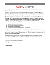 sample cover letter to recruiter