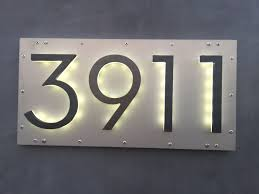 Lighted House Number Sign Illuminated Bronze House Numbers 8