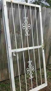 vintage exterior metal security gate door wrought iron deadbolt w