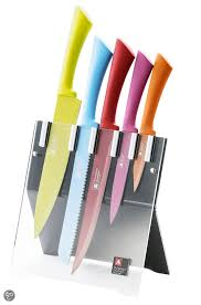 Coloured Kitchen Knives Richardson Sheffield Colour 5 Knife Block 16 99 Aldi