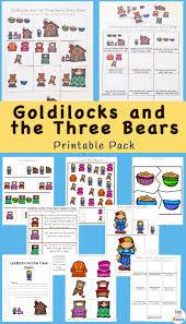 goldilocks and the three bears printable pack fun with mama