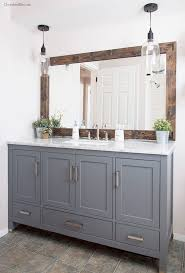 Framed Bathroom Mirror Ideas Best 25 Mirror Border Ideas On Pinterest Tile Around Mirror