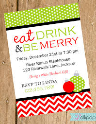 Invitation Card For Christmas Annual Christmas Party Invitation Card Design With Cute Santa And