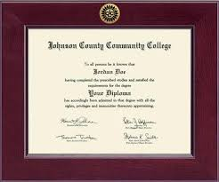 college diploma frame johnson county community college century gold engraved diploma