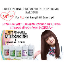 hair rebonding at home soft collagen rebonding home salon health beauty on carousell
