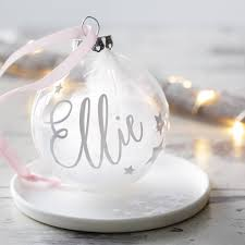 feather filled christmas bauble by baby yorke designs