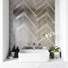 metallic silver wall tile 75mm x 300mm victoriaplum com