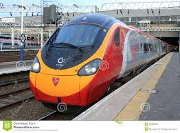 pendolino electric at euston station editorial photo