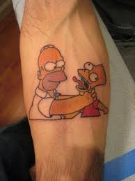 simpsons tattoos that are better than the rest thechive