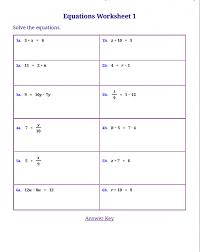 math equation worksheets koogra