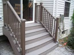 composite deck stairs cost u2014 railing stairs and kitchen design