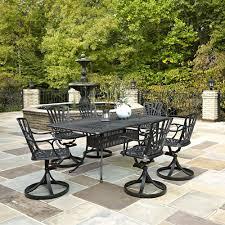 Mainstays Wicker 5 Piece Patio Dining Set Seats 4 - meadow decor kingston 7 piece round patio dining set pacifica 7