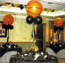 basketball party table decorations sports themed graduation party basketball centerpiece party