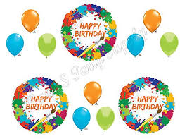 birthday balloons painting birthday balloons decoration supplies party