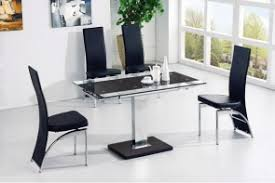 Black Glass Extending Dining Table Extending Glass Dining Tables Modenza Furniture
