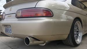 lexus sc300 wing drift dialects fireball muffler sound clip on sc300 92 00 soarer