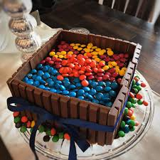 beer barrel cake bucket of mandms kit kat cake recipe genius kitchen