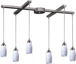 elk lighting milan pendant elk lighting milan 6 light island pendant satin 110 6wh lsusa