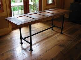 Door Desk Diy Custom Made Pipe Frame Tables And Desks By Wesley Design