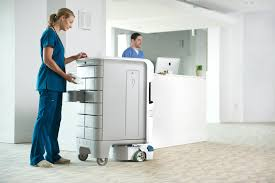 Floor Nurse st elizabeth healthcare enters the robotic age using the tug